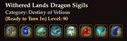 Withered Lands Dragon Sigils