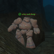 A fey rock heap