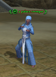 A palace sweeper