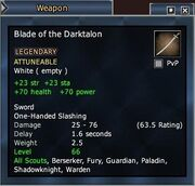 Blade of the Darktalon