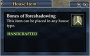 Bones of Foreshadowing