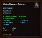Cloak of Superior Reticence