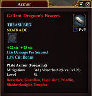 Gallant Dragoon's Bracers