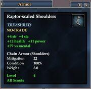 Raptor-scaled Shoulders