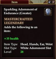 Sparkling Adornment of Endurance (Greater)