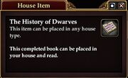 The History of Dwarves (House Item)