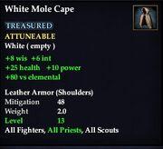 WhiteMoleCape