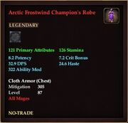 Arctic Frostwind Champion's Robe