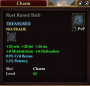 Rust Runed Barb