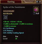 Spike of the Sandstorm