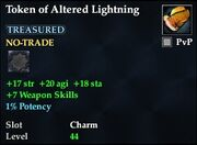 Token of Altered Lightning