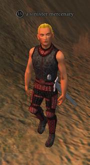 A sinister mercenary
