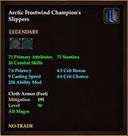 Arctic Frostwind Champion's Slippers