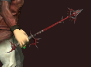 Deadly Bloodiron Wand of Elemental Rending (Equipped)