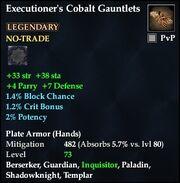 Executioner's Cobalt Gauntlets