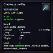 Gladius of the Fae