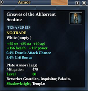Greaves of the Abhorrent Sentinel