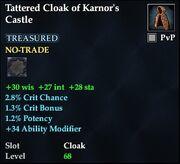 Tattered Cloak of Karnor's Castle