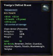 Voulge's Defiled Bracer