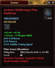 Archon's Faithbringer Plate Pauldrons