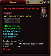 Brute's Wrathbound Foot Wraps