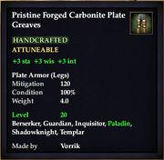 Carbonite Plate Greaves