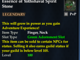 Essence of Yothshaval Spirit Stone