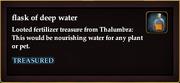 Flask of deep water