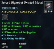 Forced Signet of Twisted Metal