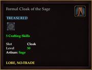 Formal Cloak of the Sage