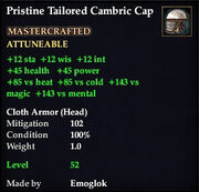 Pristine Tailored Cambric Cap