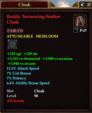 Ruddy Terrorwing Feather Cloak