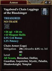 Vagabond's Chain Leggings of the Bloodsinger