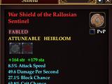 War Shield of the Rallosian Sentinel