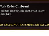 Work Order Clipboard
