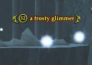 A frosty glimmer