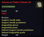 Advanced Tailor Volume 62
