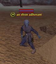 An ebon adherant