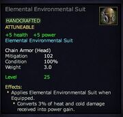 Elemental Environmental Suit