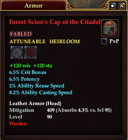 Forest Scion's Cap of the Citadel