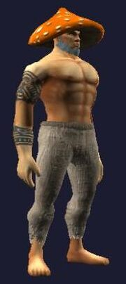Fungoid Souvenir Male Barbarian Equipped