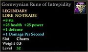 Gorowynian Rune of Intrepidity