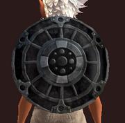 Imbued Bubinga Round Shield (Equipped)
