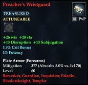 Preacher's Wristguard