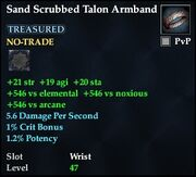 Sand Scrubbed Talon Armband