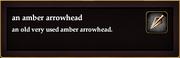 An amber arrowhead