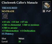 Clockwork Caller's Manacle