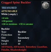 Cragged Spine Buckler