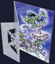 Decorative Frostfell Carol Greeting Card (Visible)