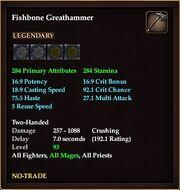 Fishbone Greathammer